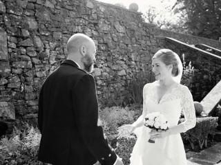 Elopement wedding ceremony at Glenapp Castle