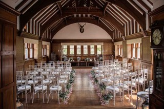 Ceremony room indoors at Sorn Castle wedding