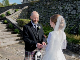Wedding elopement ceremony at Glenapp Castle
