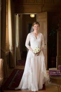 Beautiful bride at Glenapp Castle