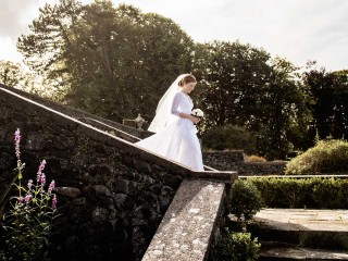 Here comes the bride, Glenapp Castle